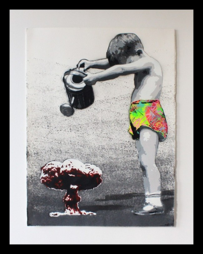 Graffiti print KURAR Somebody to save people ed8/8