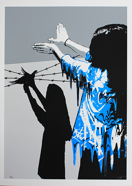 Sad reality bleu / Screenprint serie ed of 20