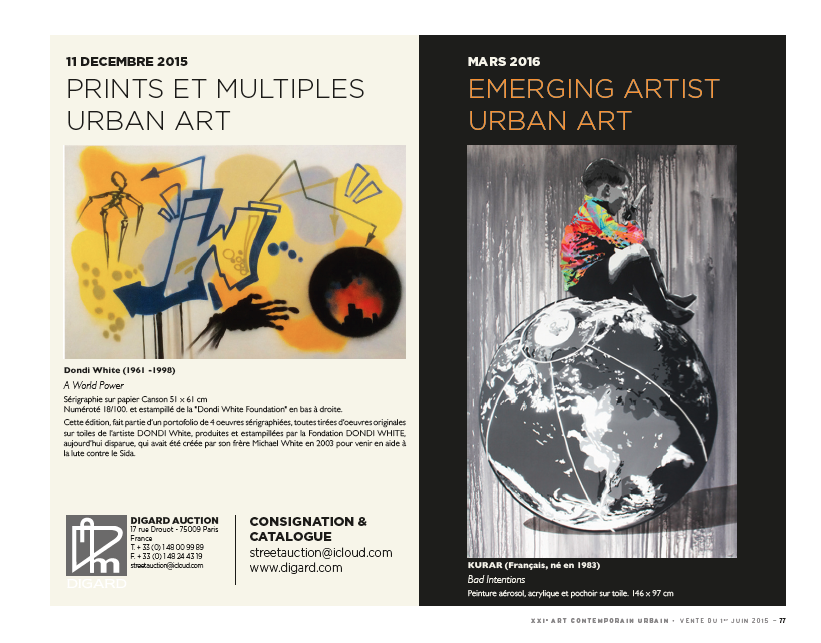 couverture catalogue vente art urbain DIGARD