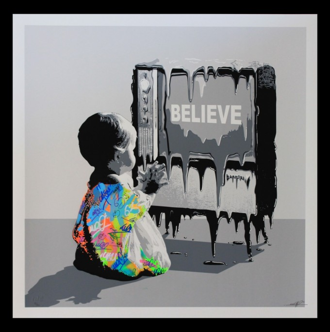 Believe / Hand finished Screenprint serie ed of 75