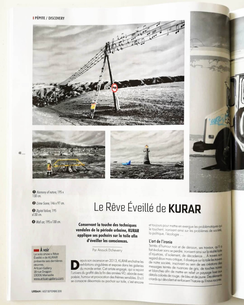 KURAR publications dans Urban Arts Magazine